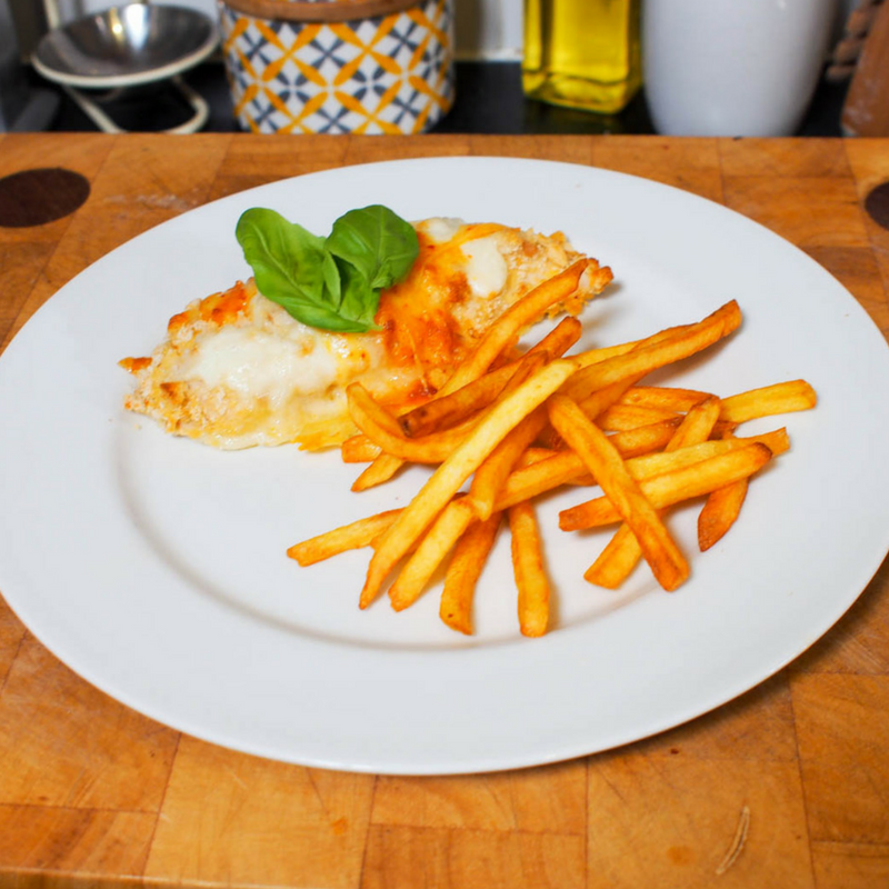 Baked Chicken Parmesan or Parmo (Cooking with Kids)