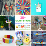 Over 35 Craft Stick Crafts and Activities