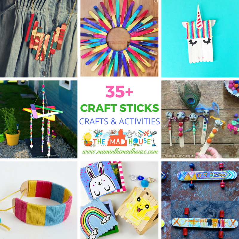 Activities Crafts Games: Over 35 Craft Stick Crafts And Activities