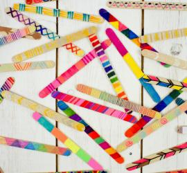 Craft Stick Wall Hanging