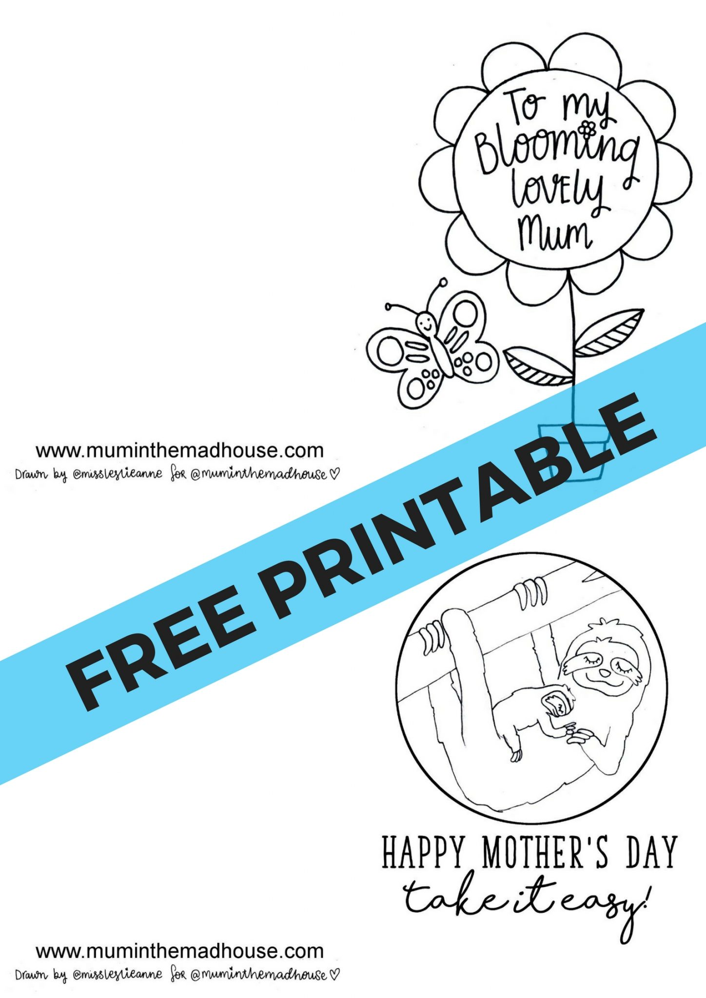 Mothers day coloring pages disney - Stunning Free Printable Mothers Day Cards To Colour 2 Free Brilliant Cards To Download For