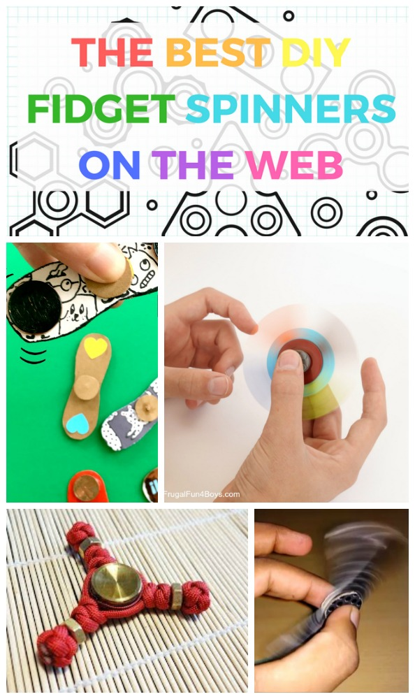 Make your own fabulous DIY Fidget Spinners with this roundup of all the best DIY fidget spinners on the web both with bearings and without.