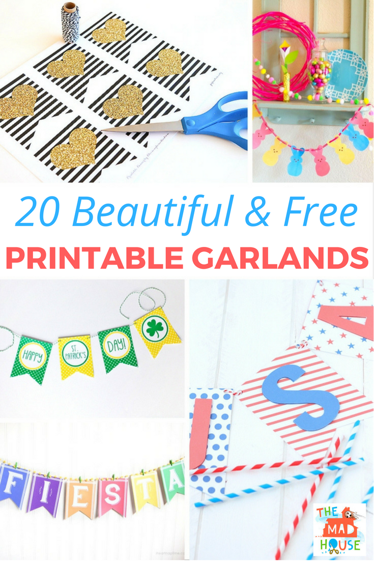 Decorate your home with this fab beautiful and free printable garlands.  An inexpensive way to celebrate or decorate for the season
