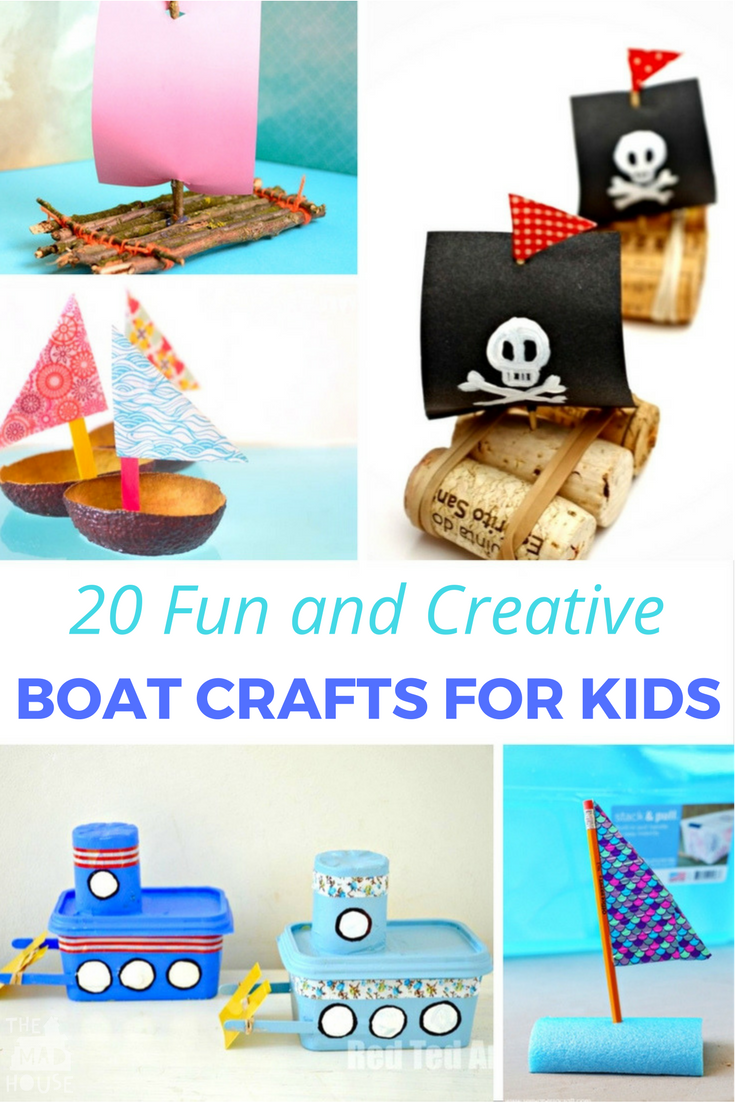 20 fun creative boat crafts for kids mum in the madhouse for Creative crafts to do