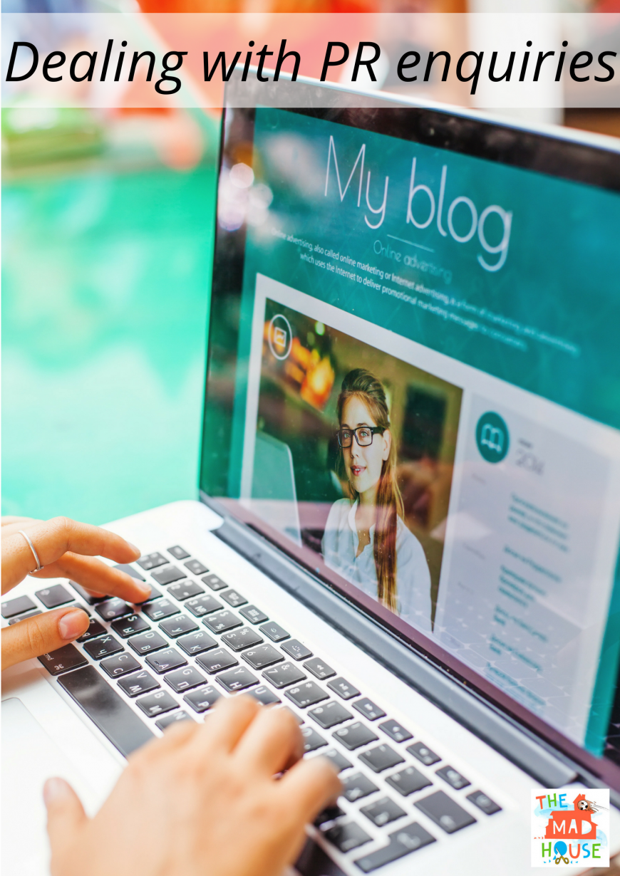 Blogger Basics - Hints and tips for dealing with PR enquiries as a blogger from the multi award winning #1 UK parenting blogger.