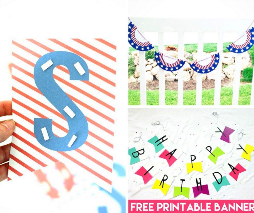 20 Beautiful and Free Printable Garlands