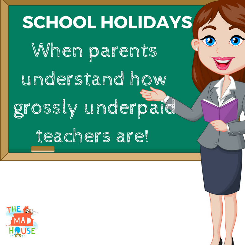 Citaten School Holiday : It is ok to have mixed feelings about the school holidays