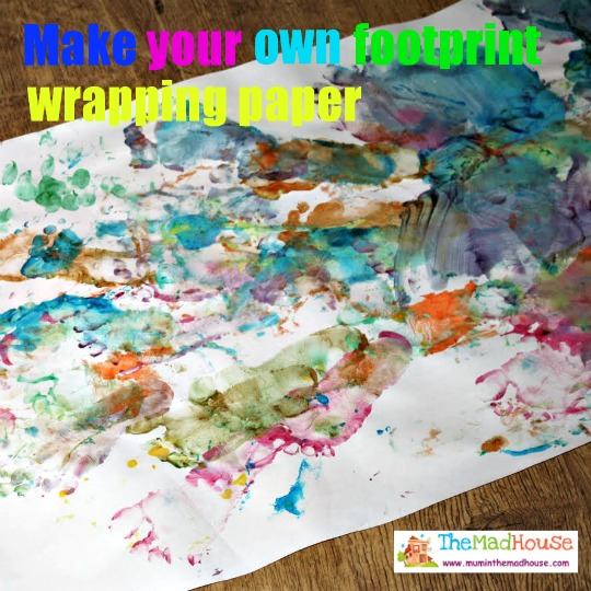 make your own footprint wrapping paper