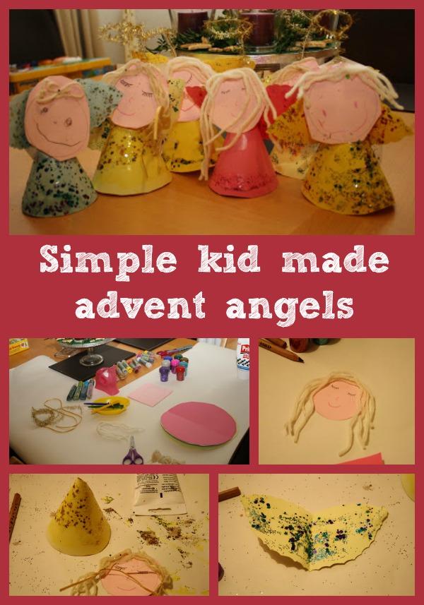 simple kid made advent angels