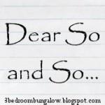 Dear So and So – The Hospital Version