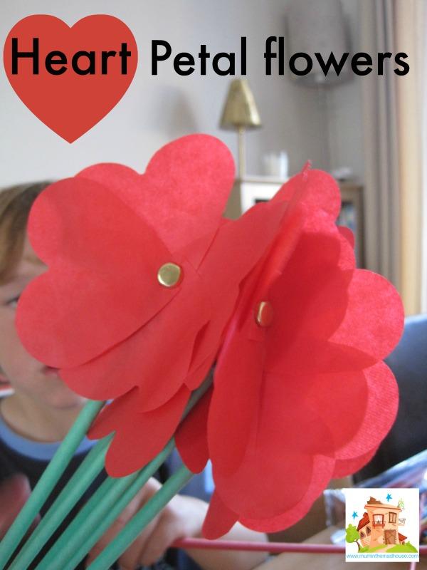 heart petal flowers