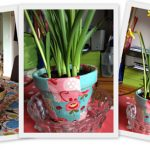 Fabric Patchwork Plant Pots