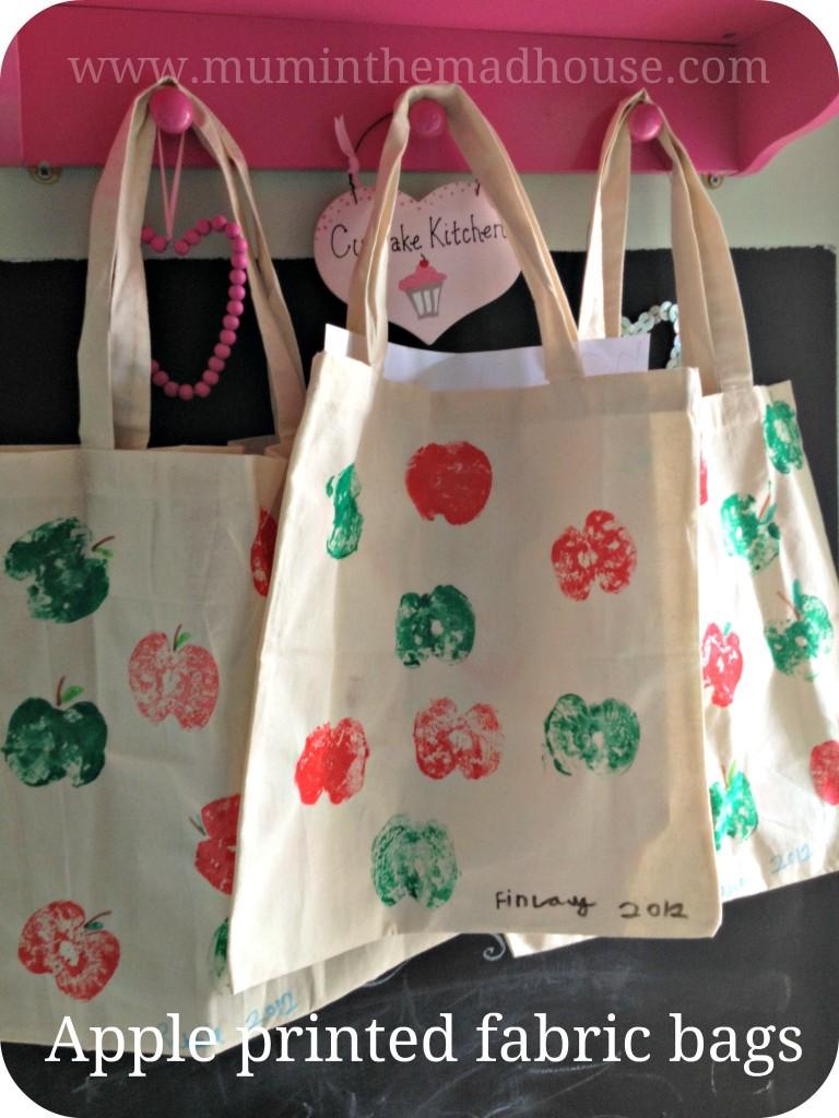 apple fabric bags