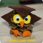 How to make a Pinecone Owl and other pinecone crafts