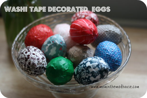 Eggs Decorated With Washi Tape Mum In The Madhouse