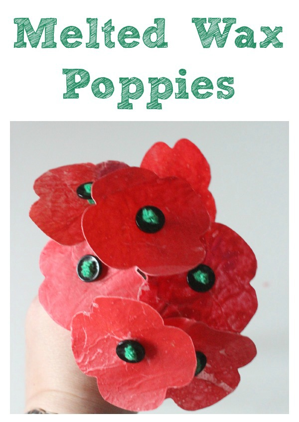Melted wax poppies
