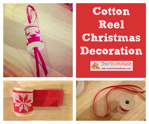 Cotton Reel Christmas Decorations