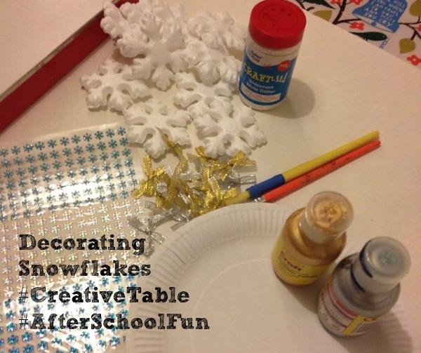 decorating snowflakes