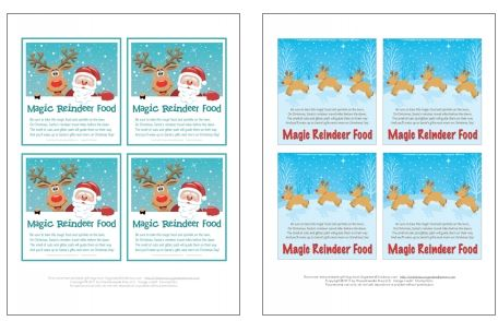 graphic about Reindeer Food Labels Printable named Reindeer Food stuff Guide and No cost tag roundup - Mum Within just The