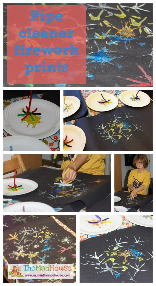 pipecleaner fireworks Collage