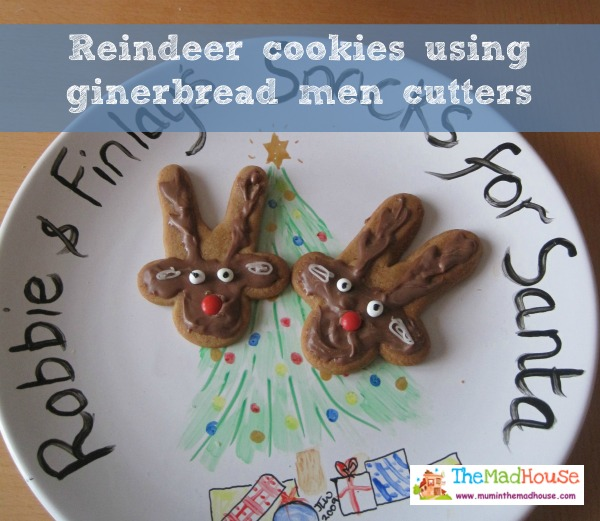 Reindeer Cookies Using Gingerbread Men Cutters Mum In The Madhouse