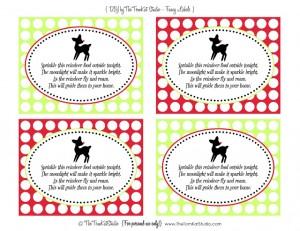 vintage rudolph fancy labels - lisa