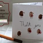Fingerprint Thank you cards – Robins