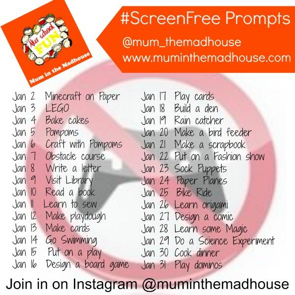 screen free prompts