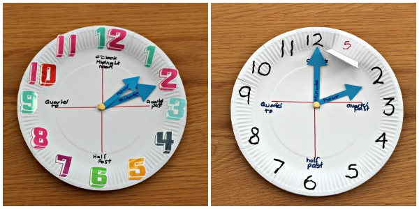 how to make a paper plate clock mum in the madhouse