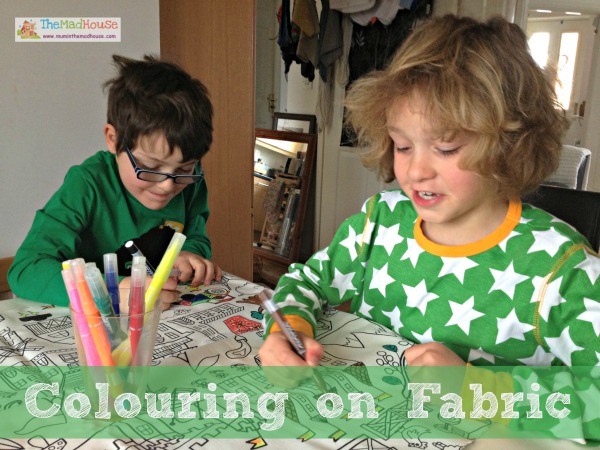 Colouring on Fabric - Mum In The Madhouse