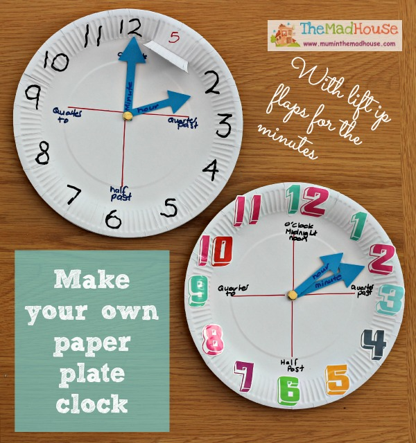 How to make a paper plate clock mum in the madhouse for Making a blueprint online