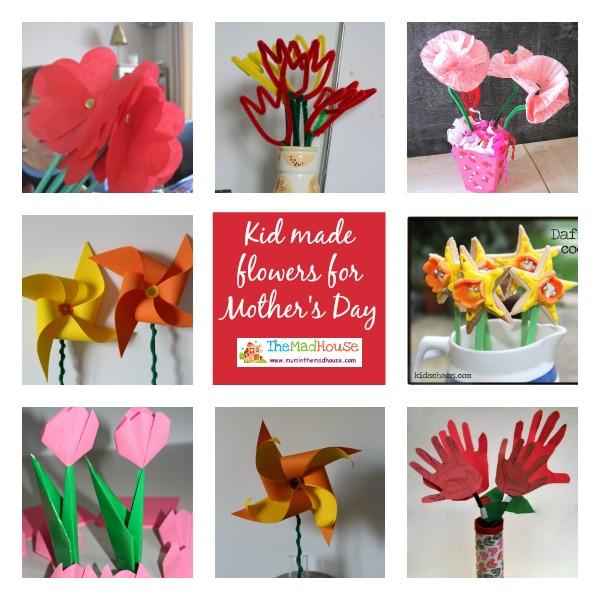 Kid made flowers