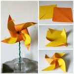 {How to} make a two colour daffodil pinwheel
