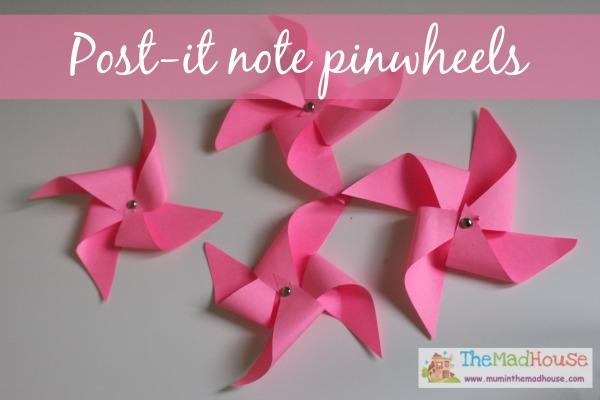 post it pinwheels