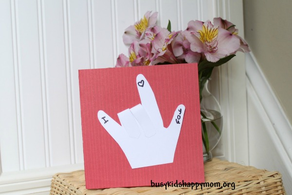 sign language mothers day card
