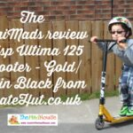 The MiniMads review Crisp Ultima 125 Scooter – Gold/Satin Black