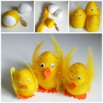 Felted wool easter egg chicks