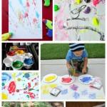 Seven Great Kids Outdoor Painting Activities