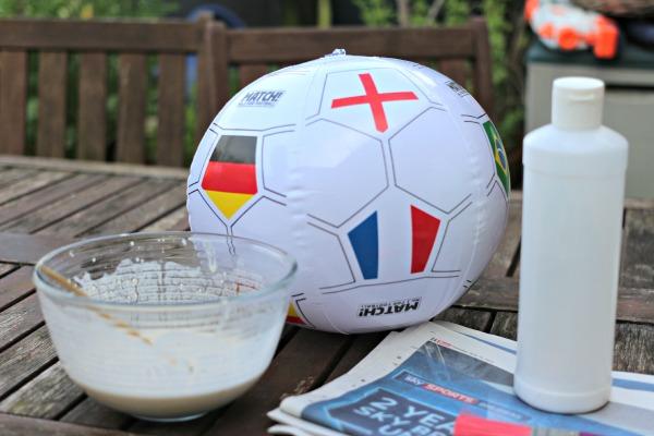 materials to make a football piñata