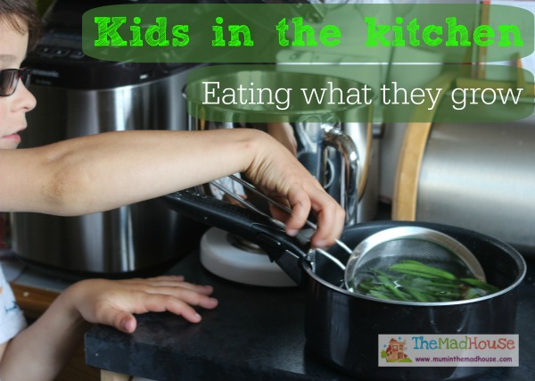 eating what they grow kids in the kitchen