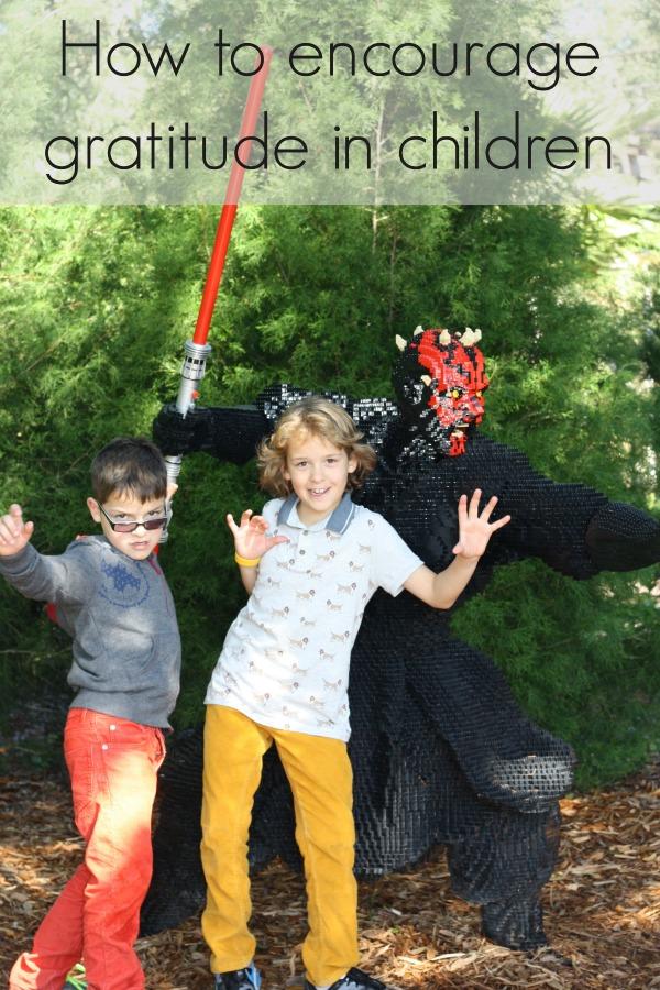 how to encourage gratitude in kids