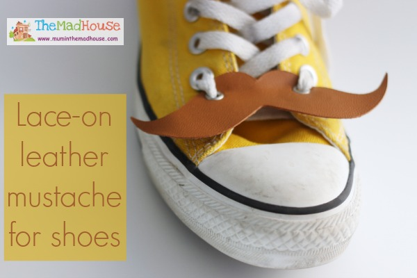 lace on leather mustache for soes