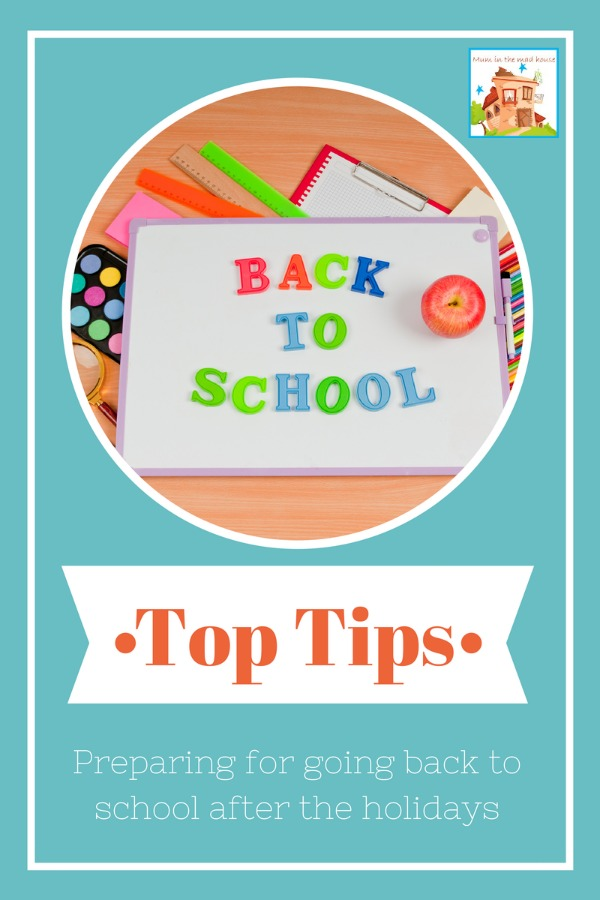 Tips for preparing for going back to school after the holidays