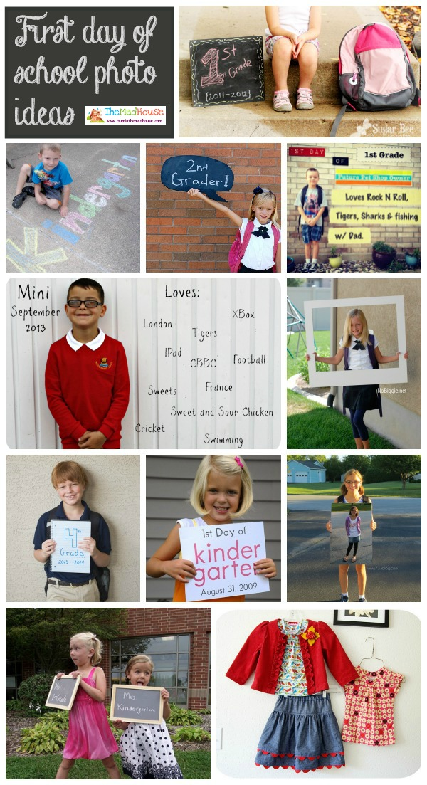 first day of school photo shoot ideas - First day of school photo ideas Mum In The Madhouse