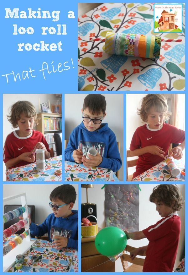 making a loo roll rocket that works