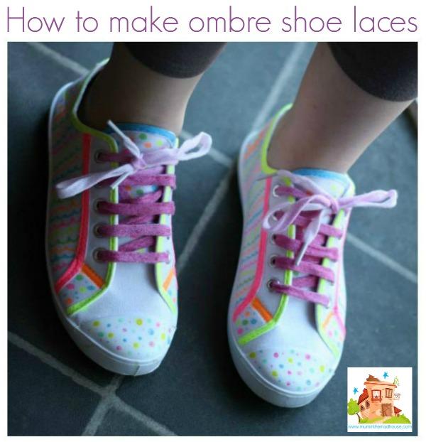 ombre shoe laces