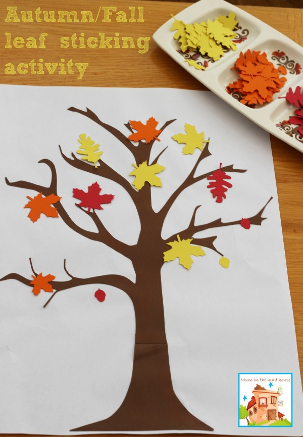Autumn Fall leaves sticking activity