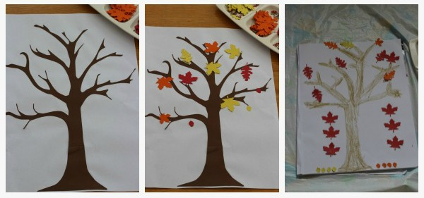coloured leaf activity trees
