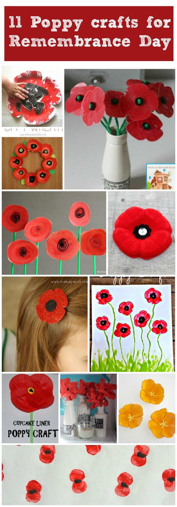 11 More Poppy Crafts For Remembrance Day Mum In The Madhouse