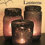Jam Jar or Mason Jar Halloween Lanterns
